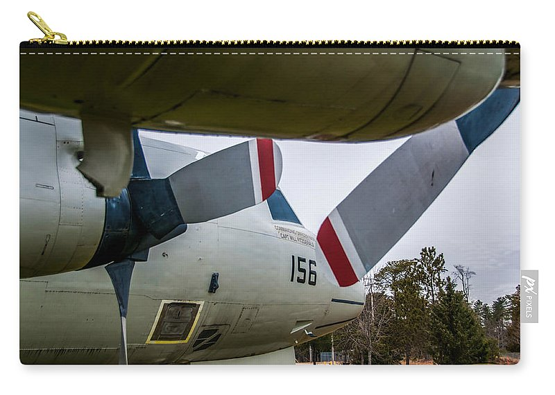 Asw Aircraft Carry-all Pouch featuring the photograph Under My Wing by Guy Whiteley