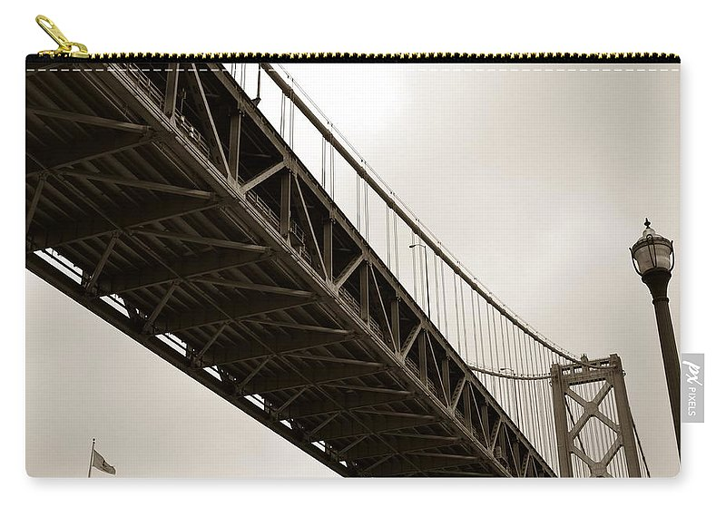 Bay Bridge Carry-all Pouch featuring the photograph Under The Bay Bridge by Michelle Calkins