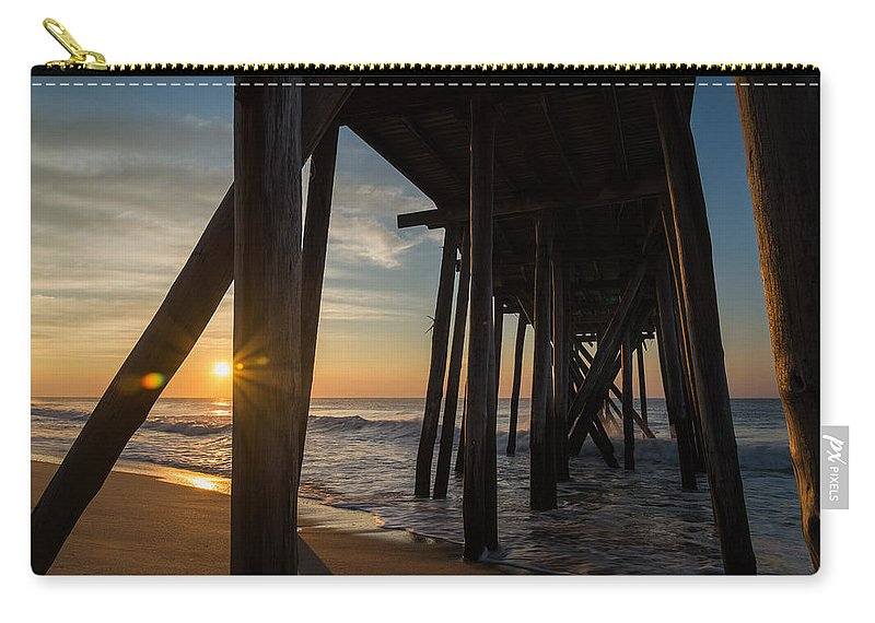 New Jersey Carry-all Pouch featuring the photograph Under The Boardwalk by Kristopher Schoenleber