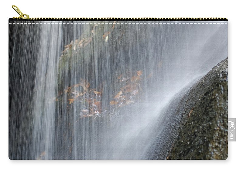 Arch Carry-all Pouch featuring the photograph Under The Falls by Jack R Perry