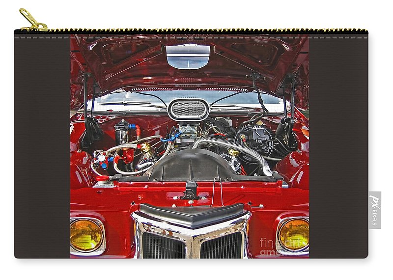 Car Carry-all Pouch featuring the photograph Under The Hood by Ann Horn