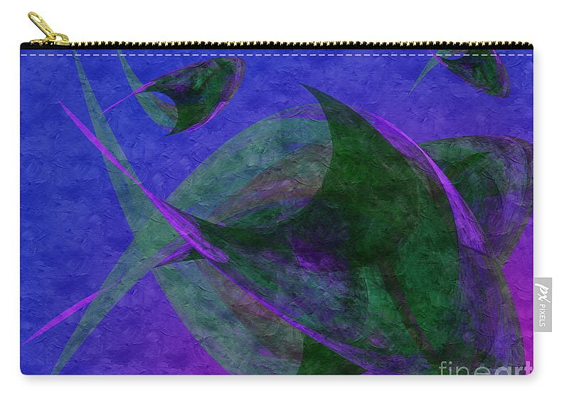 Abstract Carry-all Pouch featuring the digital art Under The Sea Painterly by Andee Design