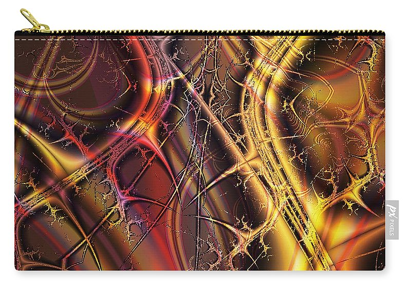 Malakhova Carry-all Pouch featuring the digital art Under The Surface by Anastasiya Malakhova