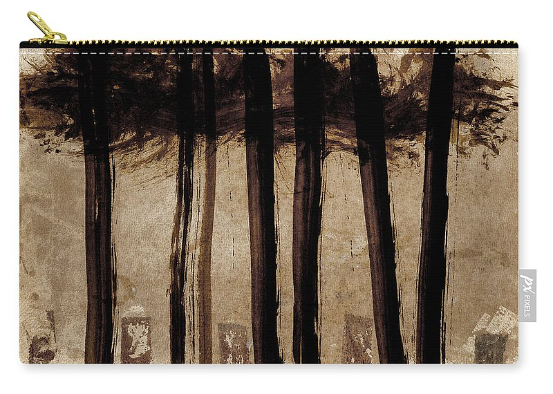 Under Trees Carry-all Pouch featuring the photograph Under The Trees by Carol Leigh