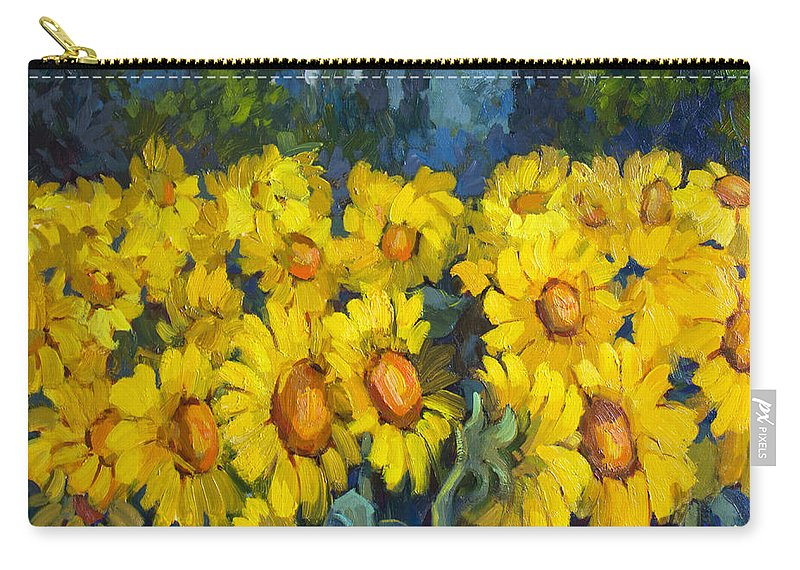 Tuscan Carry-all Pouch featuring the painting Under Tuscan Sun by Diane McClary