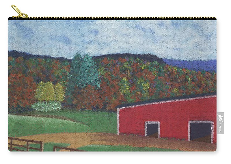 Landscape Carry-all Pouch featuring the pastel Undermountain Autumn by Anne Katzeff