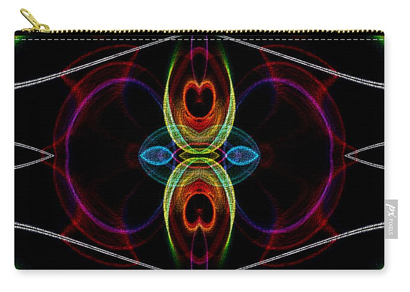 Series Echo Carry-all Pouch featuring the digital art Underneath It All by Owlspook
