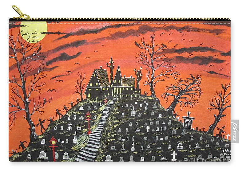 Mortician Carry-all Pouch featuring the painting Undertaker's House by Jeffrey Koss