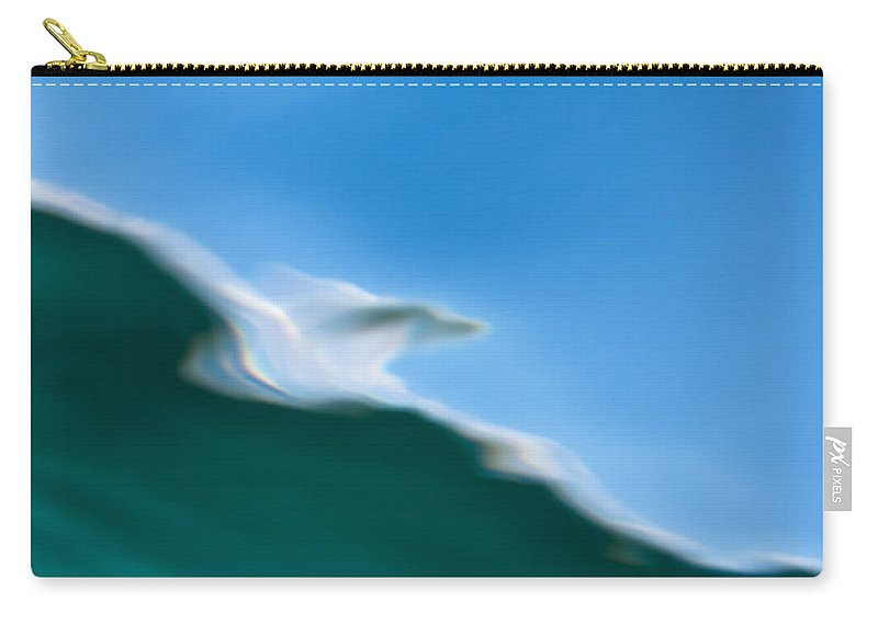 Above Carry-all Pouch featuring the photograph Underwater Shot Through Surface Color Abstract by Stephan Pietzko