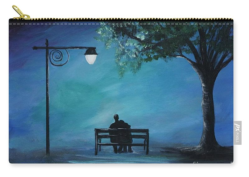 Couple Carry-all Pouch featuring the painting Unforgettable Evening by Leslie Allen