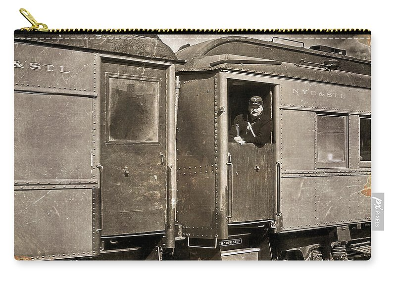 Transportation Carry-all Pouch featuring the photograph Union Soldier by Marcia Colelli