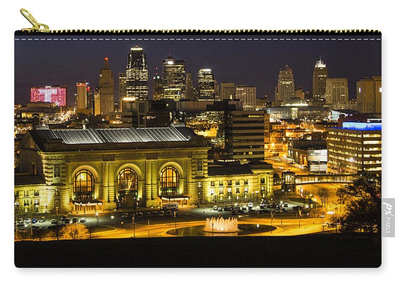 Union Station Carry-all Pouch featuring the photograph Union Station Kansas City by Angie Harris