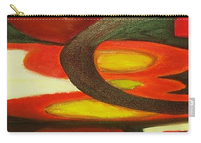Oil Abstract Carry-all Pouch featuring the painting Unique I by Yael VanGruber