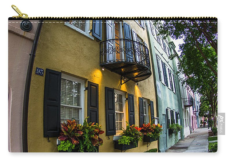 Rainbow Row Carry-all Pouch featuring the photograph Unique View by Dale Powell