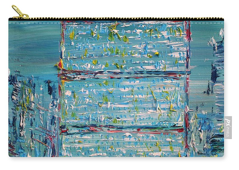 United Nations Carry-all Pouch featuring the painting United Nations Headquarters by Fabrizio Cassetta