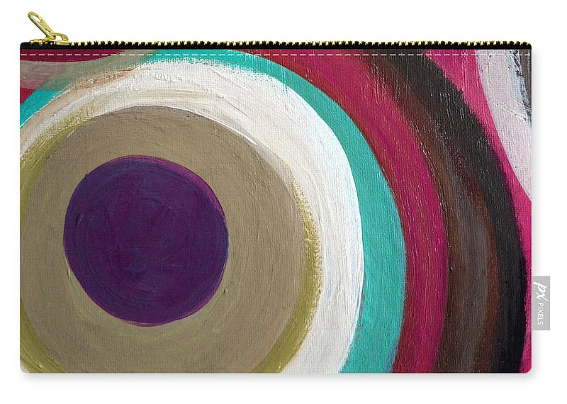Abstract Carry-all Pouch featuring the painting United We Stand II by Ruth Palmer