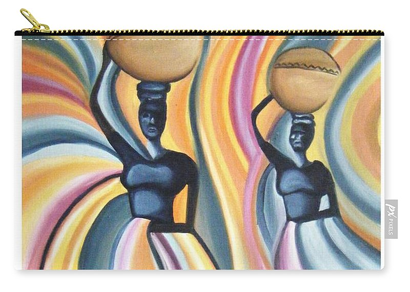 Oil Carry-all Pouch featuring the painting Unity by Olaoluwa Smith