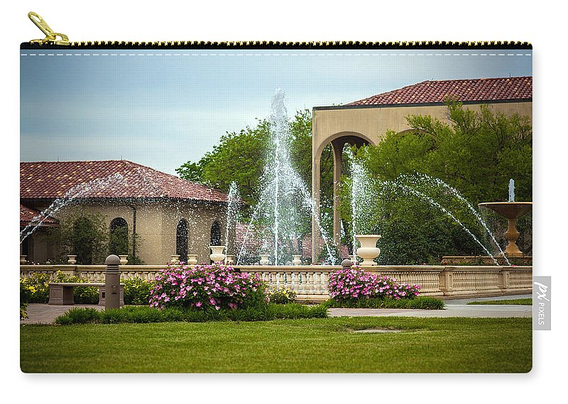 Bumble Bee Carry-all Pouch featuring the photograph Unity Village Rose Garden by Sennie Pierson