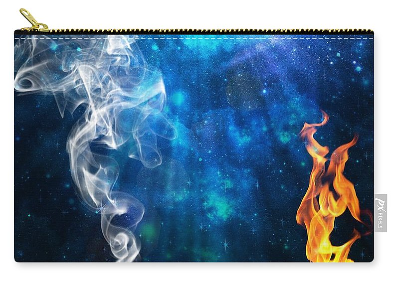 Energy Carry-all Pouch featuring the digital art Universal Energies At War by Leanne Seymour