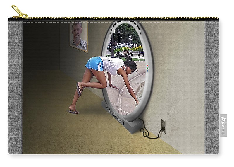 2d Carry-all Pouch featuring the photograph Universal Portal by Brian Wallace
