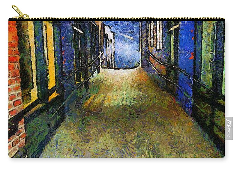 Alley Carry-all Pouch featuring the painting Universe Alley by RC DeWinter