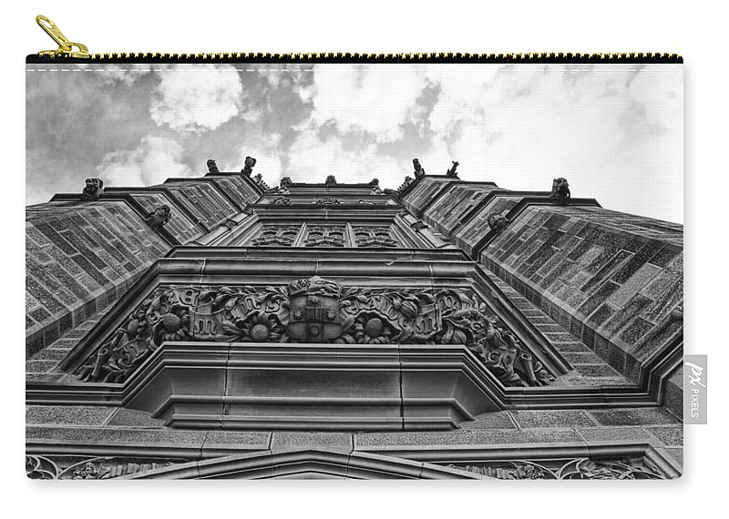 University Of Sydney Carry-all Pouch featuring the photograph University Of Sydney-black And White by Douglas Barnard