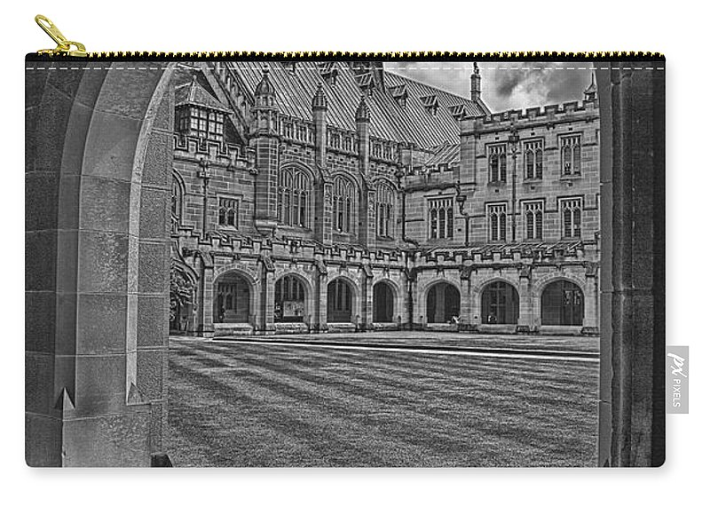 University Of Sydney Carry-all Pouch featuring the photograph University Of Sydney-black And White V3 by Douglas Barnard