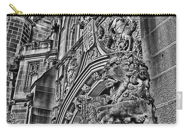 University Of Sydney Carry-all Pouch featuring the photograph University Of Sydney-black And White V5 by Douglas Barnard