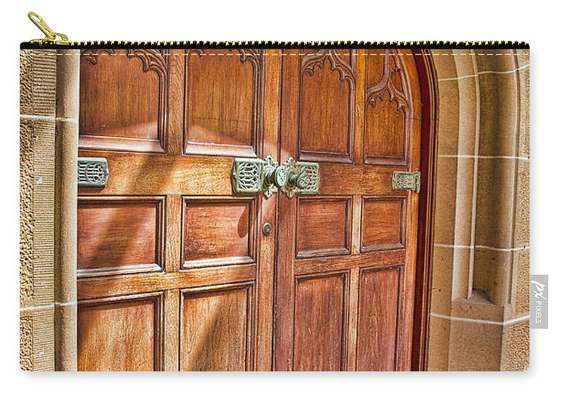 University Of Sydney Carry-all Pouch featuring the photograph University Of Sydney Doors by Douglas Barnard