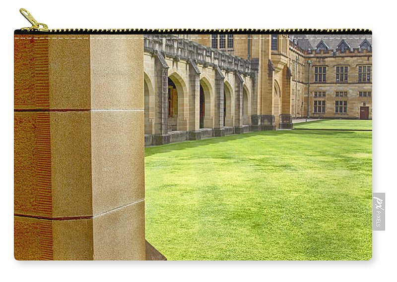 University Of Sydney Quadrangle Carry-all Pouch featuring the photograph University Of Sydney Quadrangle V2 by Douglas Barnard
