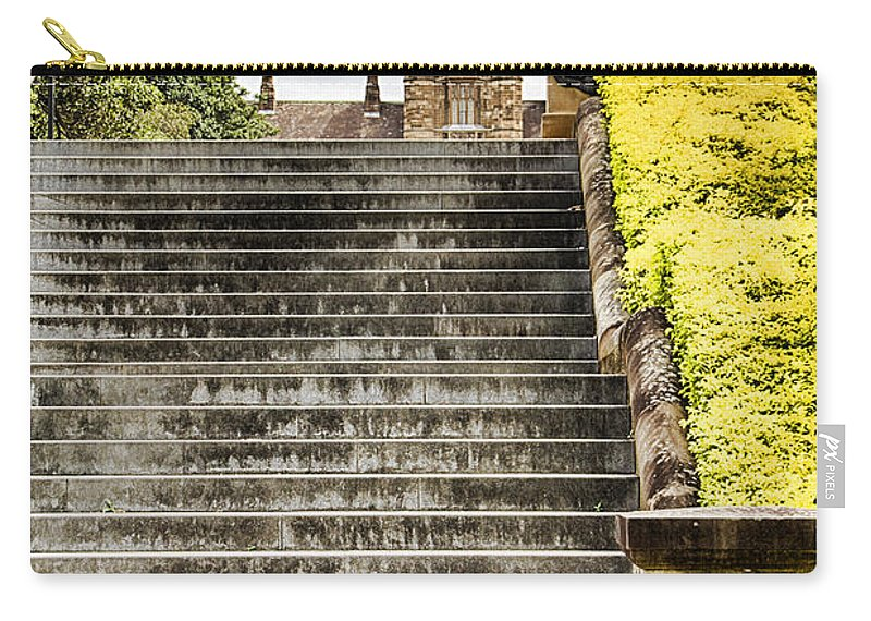 University Of Sydney Carry-all Pouch featuring the photograph University Of Sydney Steps by Douglas Barnard