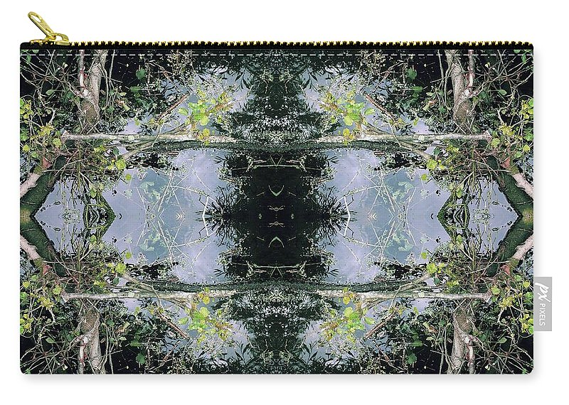 Kaleidoscopic Carry-all Pouch featuring the photograph Unnatural 73 by Giovanni Cafagna