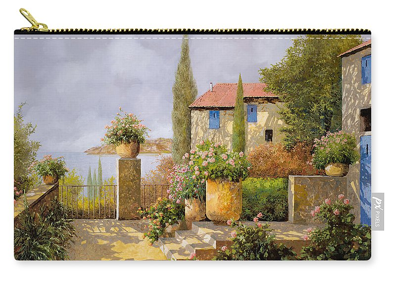 Terrace Carry-all Pouch featuring the painting Uno Sguardo Sul Mare by Guido Borelli