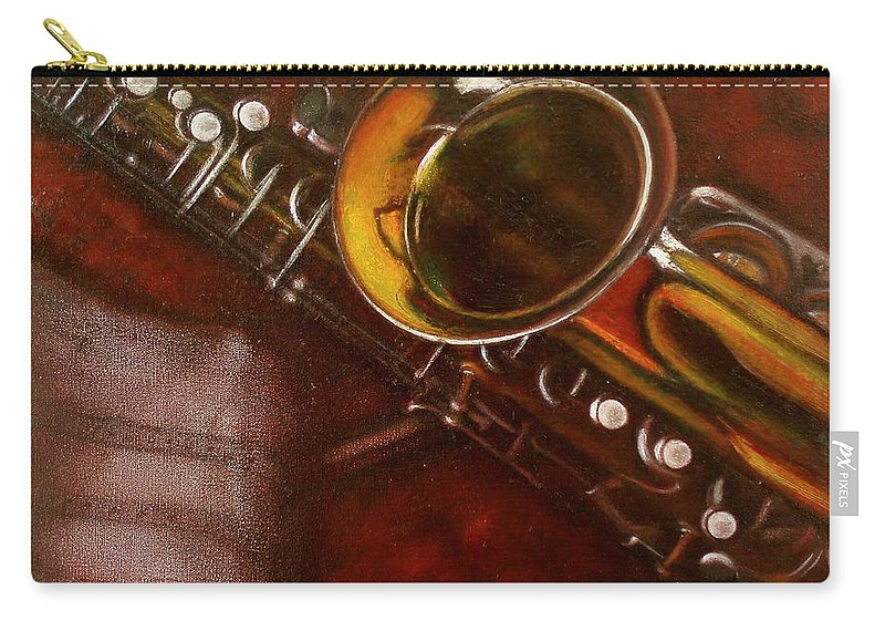 Still Life Carry-all Pouch featuring the painting Unprotected Sax by Sean Connolly