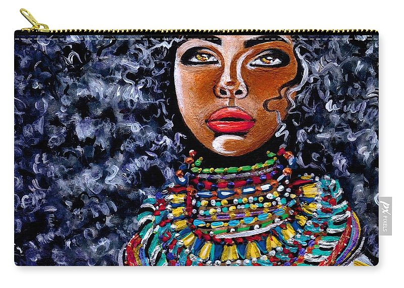 Artbyria Carry-all Pouch featuring the photograph Untamed Beauty by Artist RiA