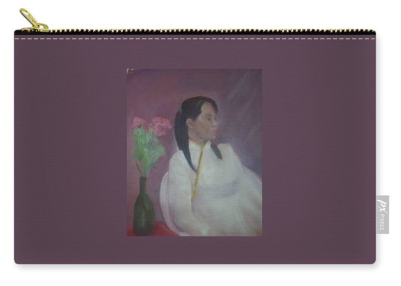 Woman Carry-all Pouch featuring the painting Untitled #2 by Sheila Mashaw
