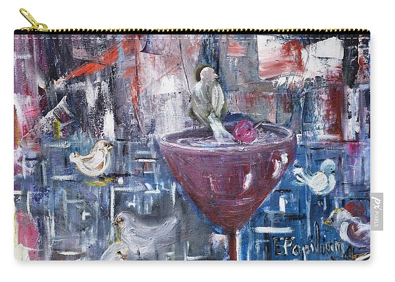 Abstract Carry-all Pouch featuring the painting Untitled by Evelina Popilian