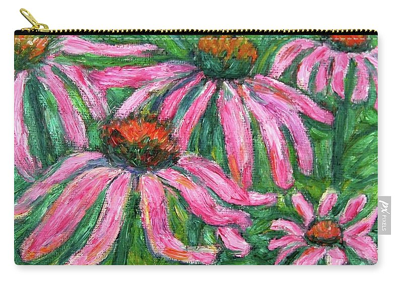Flowers Carry-all Pouch featuring the painting Up Close And Magenta by Kendall Kessler