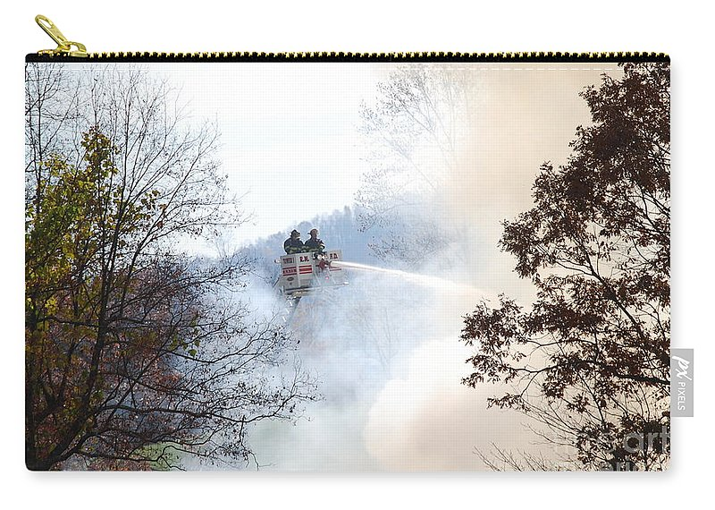 Fire Carry-all Pouch featuring the photograph Up In Smoke by Eric Liller