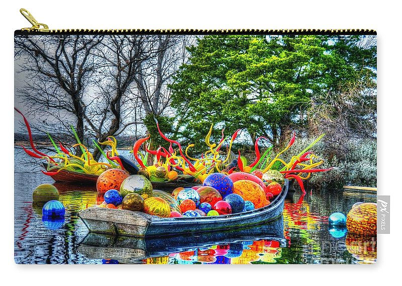 Boat Carry-all Pouch featuring the photograph Up The Creek Without A Paddle by Debbi Granruth