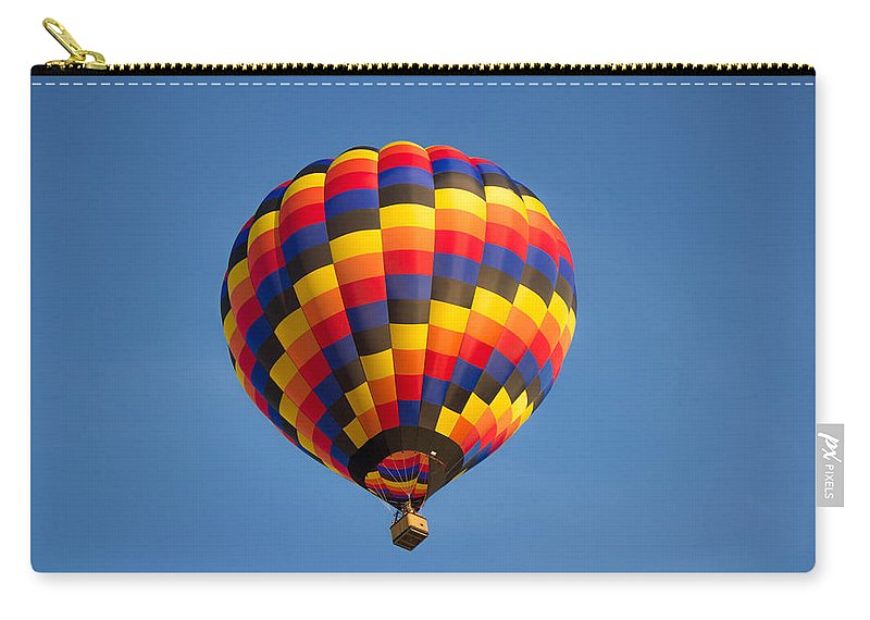 Balloon Carry-all Pouch featuring the photograph Up Up And Away by Ken Kobe
