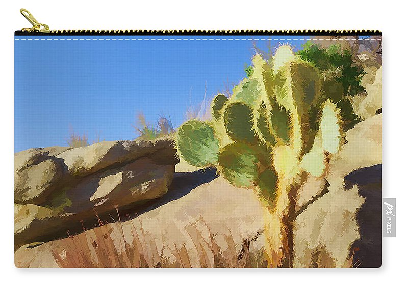 Cactus Carry-all Pouch featuring the photograph Uphill All The Way by Scott Campbell
