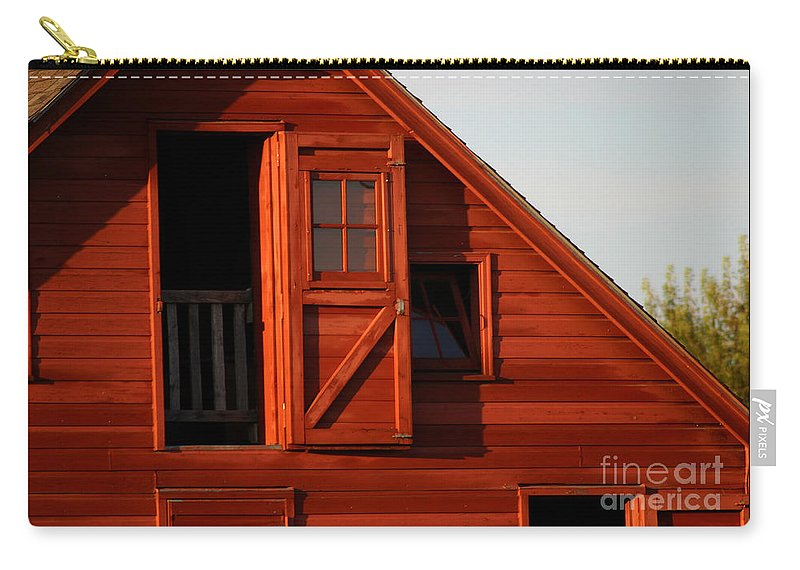 Barn Carry-all Pouch featuring the photograph Upper Barn Door-3704 by Gary Gingrich Galleries