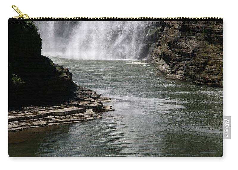Genesee River Carry-all Pouch featuring the photograph Upper Falls Letchworth State Park by Christiane Schulze Art And Photography