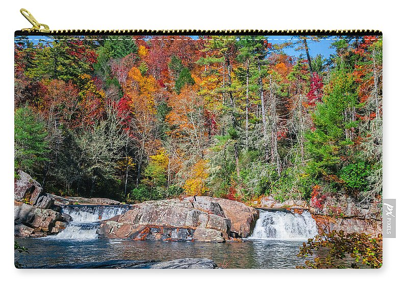 Landscape Carry-all Pouch featuring the photograph Upper Twin Falls by Lynn Bauer