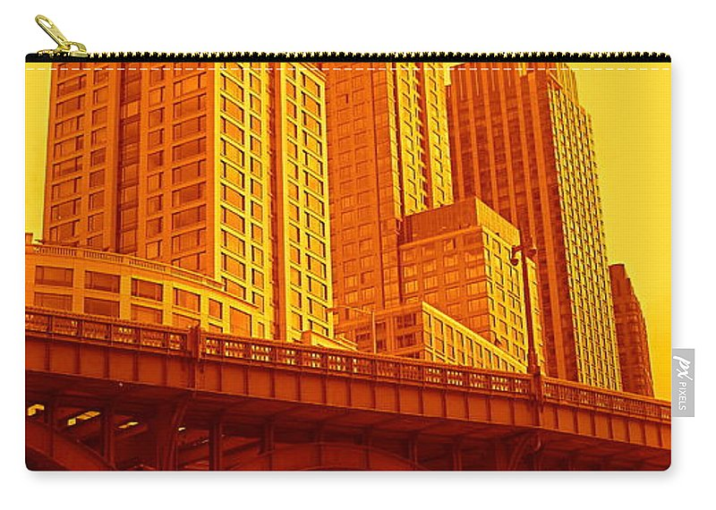 Manhattan Prints And Posters Carry-all Pouch featuring the photograph Upper West Side And Hudson River Manhattan by Monique's Fine Art