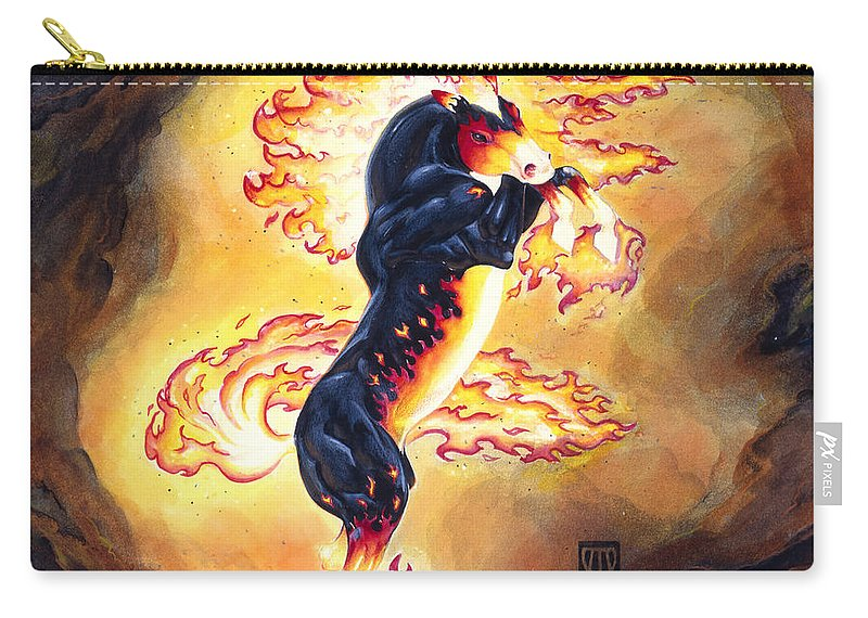 Melissa Benson Carry-all Pouch featuring the painting Upright Nightmare by Melissa A Benson