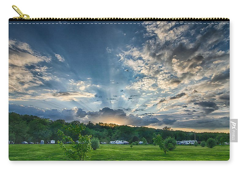 Clouds Carry-all Pouch featuring the photograph Uptacamp by Guy Whiteley