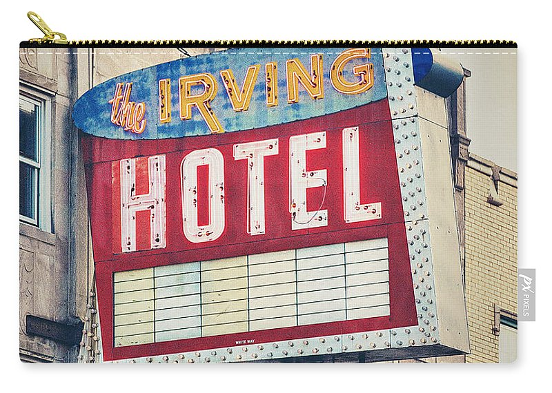 Irving Hotel Carry-all Pouch featuring the photograph Chicago's Irving Hotel by Emily Kay