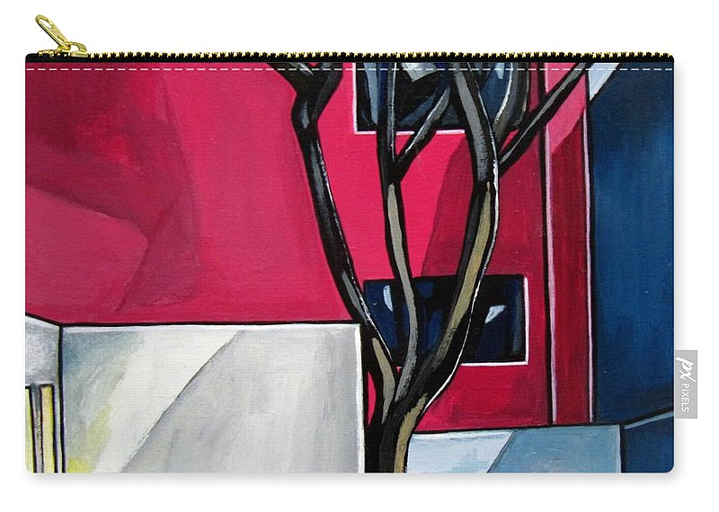 Landscape Carry-all Pouch featuring the painting Urban 1 by Sandra Marie Adams